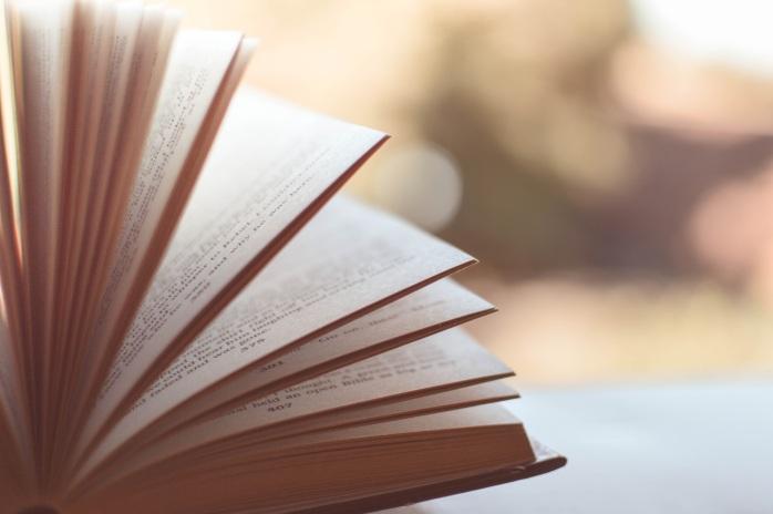 Book fanned open
