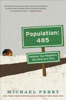 Book cover Population: 485 by Michael Perry