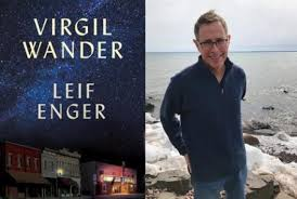 Book cover of Virgil Wander, photo of author Leif Enger